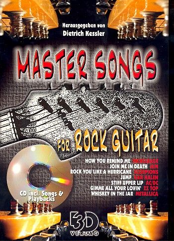 Master Songs for Rock Guitar (+CD): for voice/guitar/tab