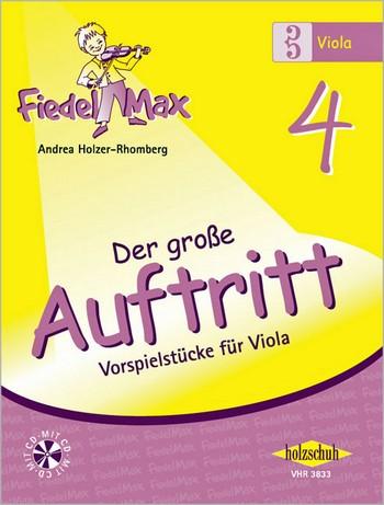 Fiedel-Max Viola Der große Auftritt Band 4 (+CD)