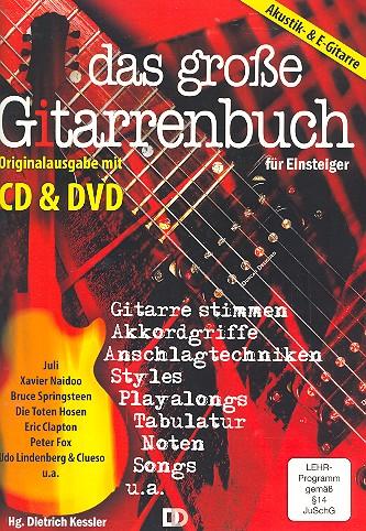 Das große Gitarrenbuch für Einsteiger (+DVD +CD): für Gitarre/Tabulatur