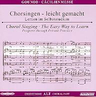 Gounod, Charles Francois - Cäcilienmesse : CD Chorstimme Alt und