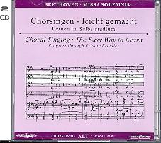 Beethoven, Ludwig van - Missa solemnis : 2 CD's Chorstimme Alt