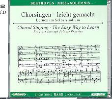 Beethoven, Ludwig van - Missa solemnis : 2 CD's Chorstimme Bass