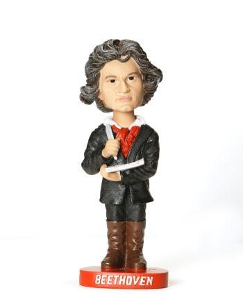 Keramikfigur Beethoven mit beweglichem Kopf 18 x 7 cm
