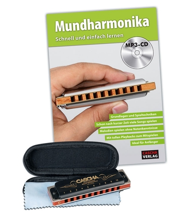 HH1610DE Professional Blues Harmonica-Set