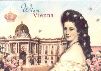 Brillenputztuch Vienna / Sisi 18 x 12,5 cm