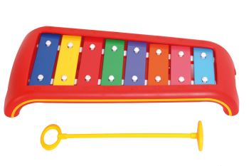 Kinder-Glockenspiel C-Dur mit 1 Kunststoffschlägel