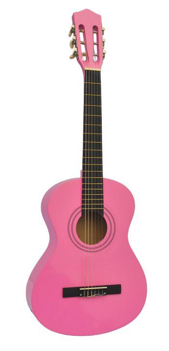 Kleine Kindergitarre (1/8) pink