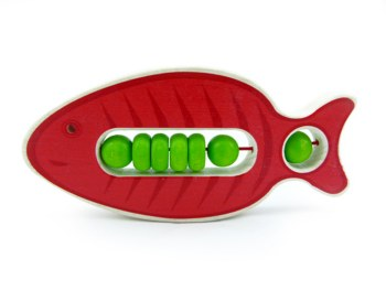 Klapper-Fisch Salmi (rot)