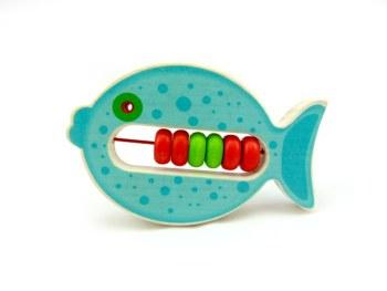 Klapper-Fisch Bulli (blau)