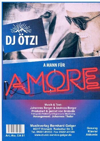A Mann für Amore: für Klavier (mit Text und Akkorden)