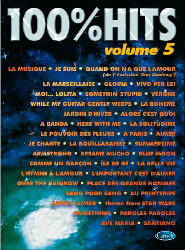 100% Hits vol.5: songbook piano/vocal/guitar