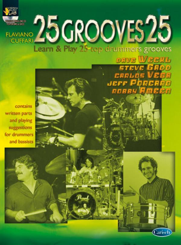 25 grooves 25 vol.1 (+CD): 25 top drummers grooves