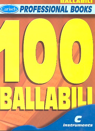 100 ballabili: for c instruments, melody line