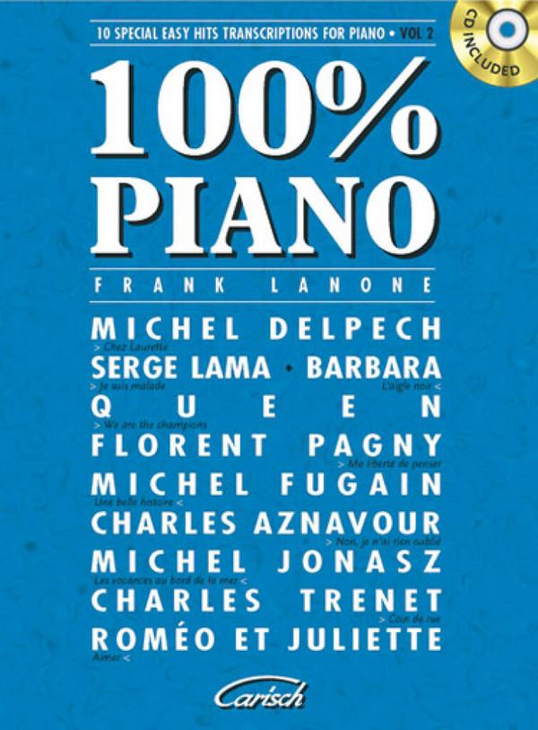 100% Piano vol.2 (+CD): 10 special easy hits transkriptions