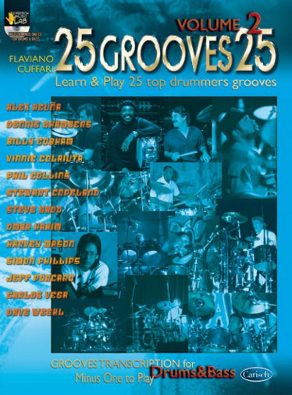 25 grooves 25 vol.2 (+CD): 25 top drummers grooves