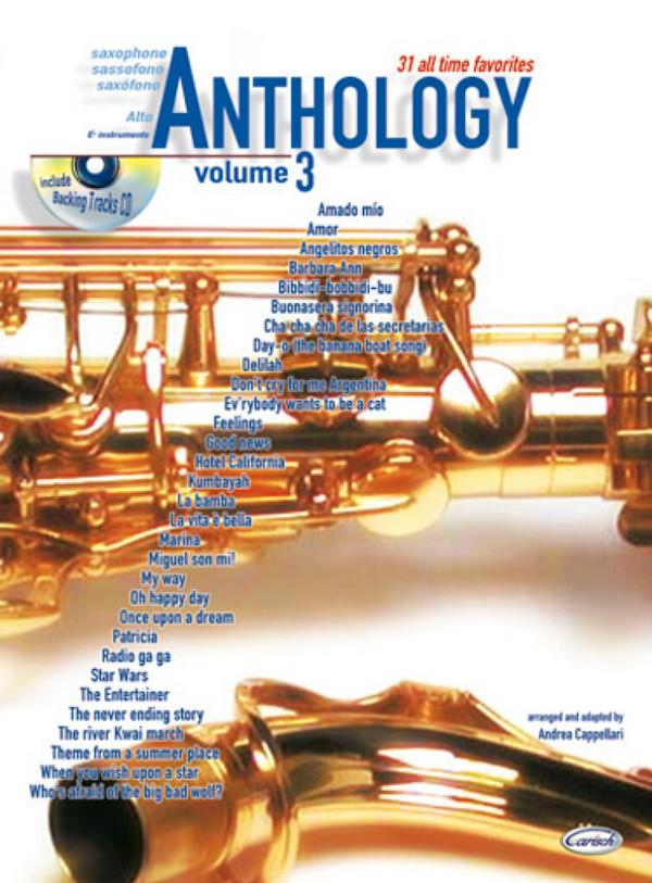 Anthology vol.3 (+CD): for alto saxophone