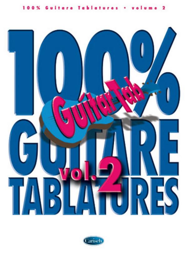 100% Guitar Tablatures vol.2 songbook vocal/guitar/tab (frz)