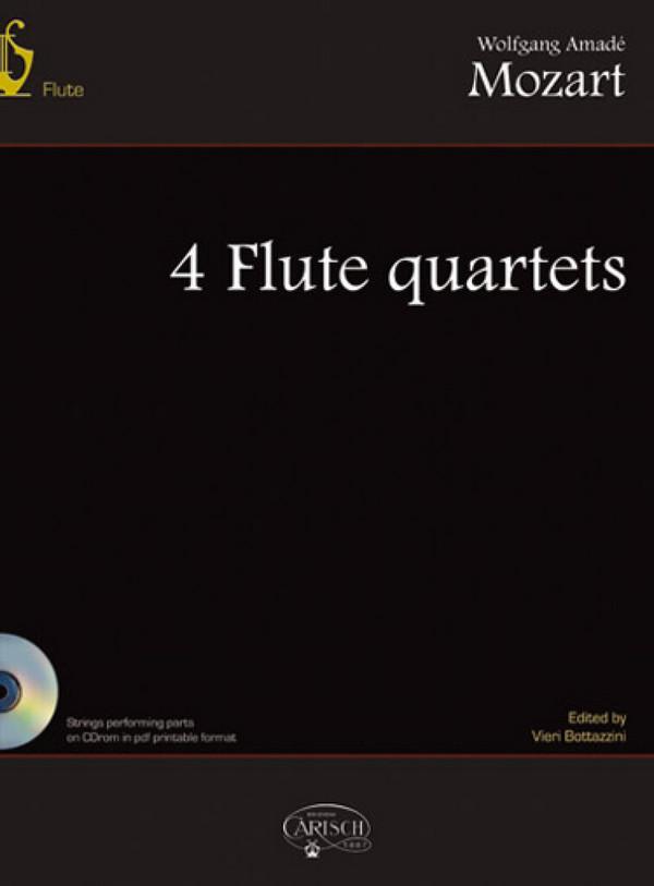 4 quartets (+CD-Rom): for flute and string trio