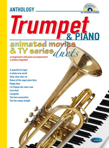 Animated Movies and TV Series Duets (+CD): for trumpet and piano