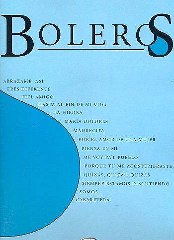 Boleros: songbook for piano/vocal/guitar
