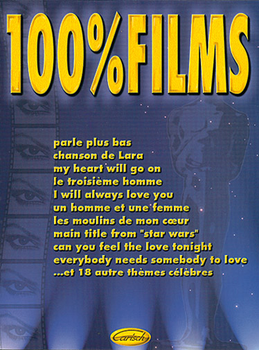 100% Films: Songbook for vocal and piano/guitar