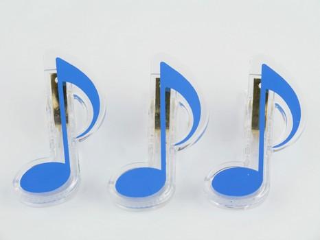 Klammer Achtelnote blau 7cm - Vollanzeige.