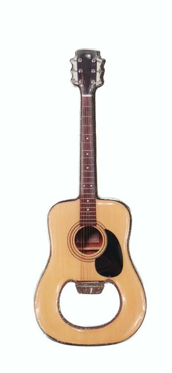 Flaschenöffner Gitarre Metall magnetisch 12 cm - Vollanzeige.