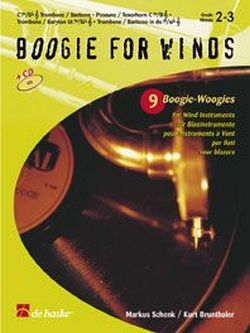 BOOGIE FOR WINDS (+CD): 9 BOOGIE WOOGIES FOR BASS INSTRUMENTS