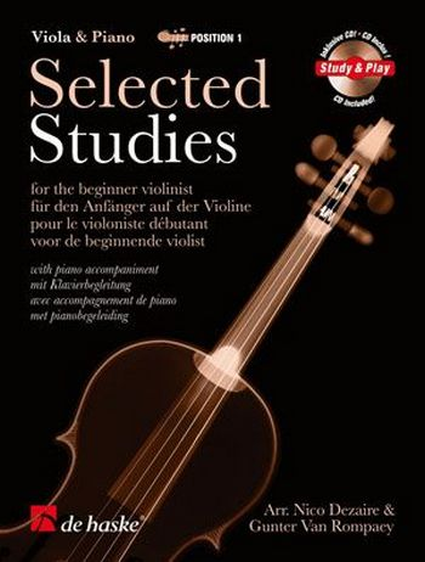 Selected studies (+CD): for beginner viola and piano