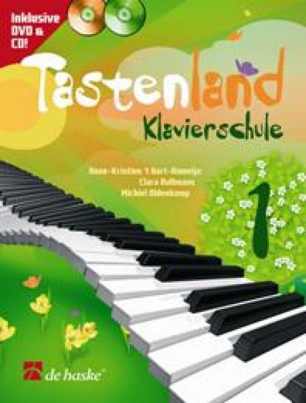 t'Hart-Romeijn, Anne-Kristien - Tastenland Band 1 (+CD+DVD) : für Klavier
