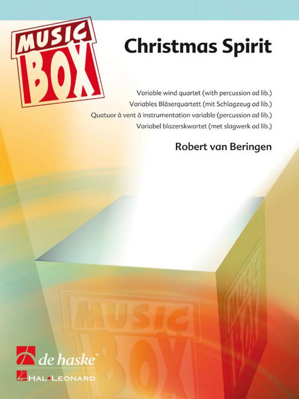 Christmas Spirit (Medley): für 4-stimmiges Bläser-Ensemble (Percussion ad lib)