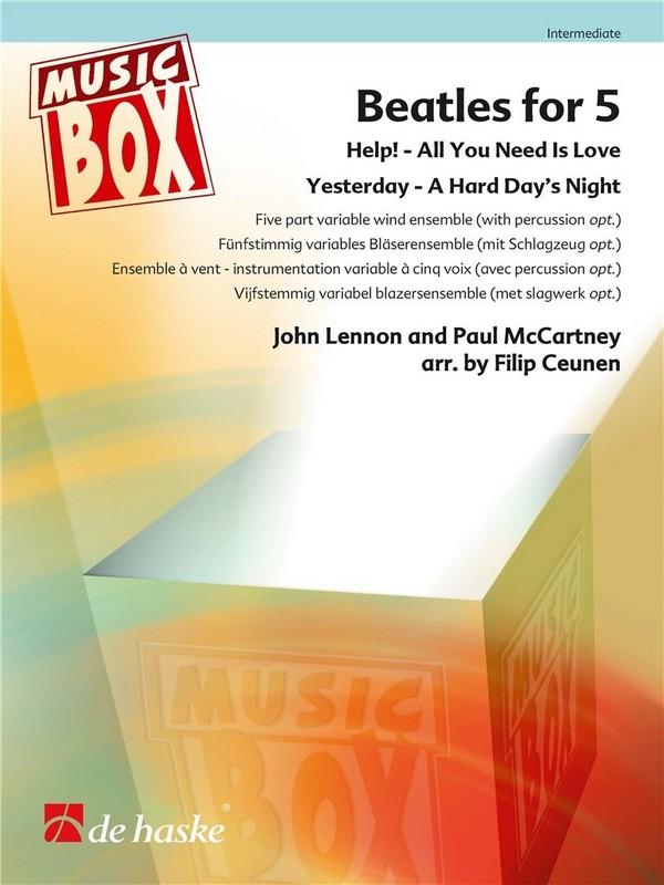Beatles for 5: für 5-stimmiges Bläser-Ensemble (Percussion ad lib)