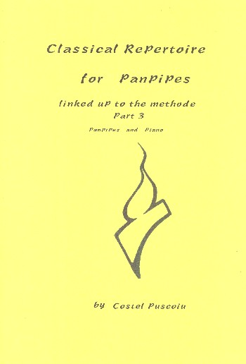 Classical Repertoire for panpipes vol.3: with piano accompaniment