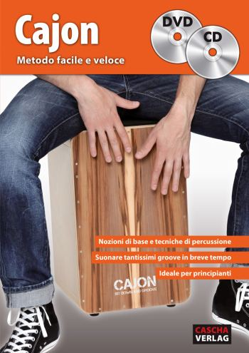 HH1704 Metodo facile e veloce (+CD +DVD): per cajon (it)