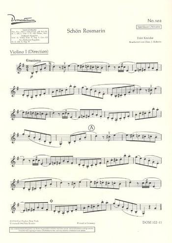 Schön Rosmarin: für Salonorchester