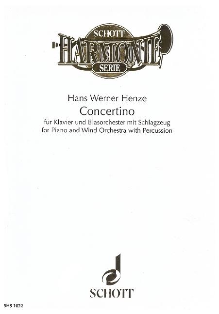 Concertino: Klavier und Blasorchester mit Schlagzeug