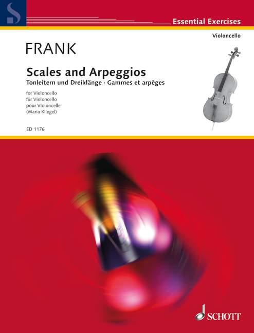 Frank, Maurits - Tonleitern und Dreiklänge : für Violoncello