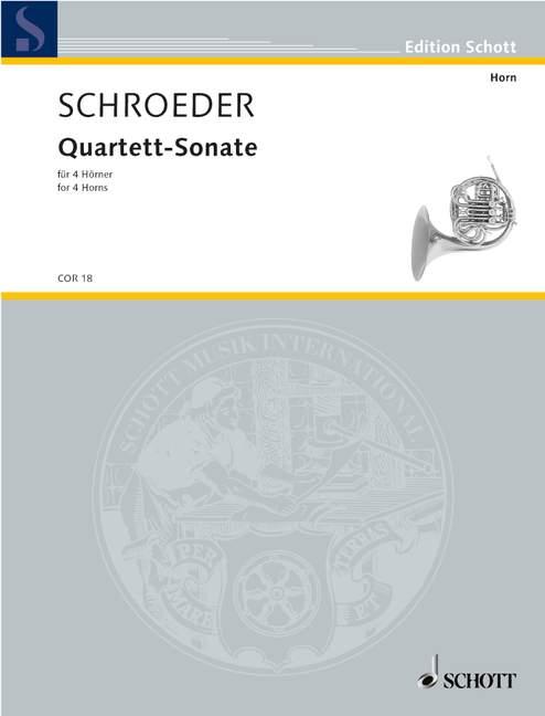 Quartett-Sonate: für 4 Hörner