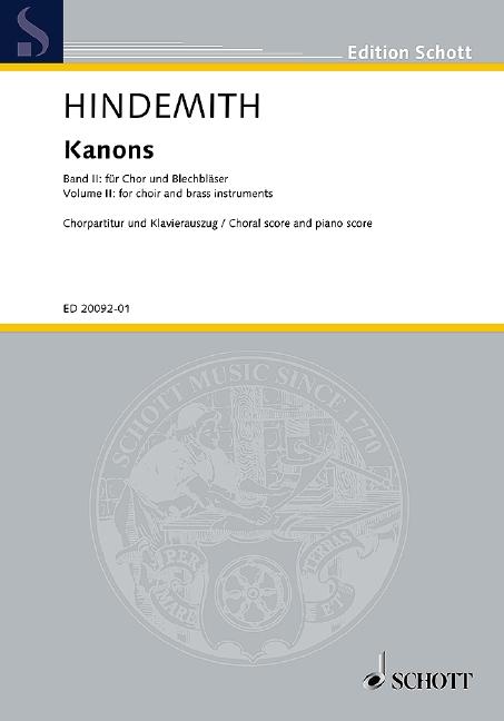 Kanons Band 2: für Chor und Blechblasinstrumente