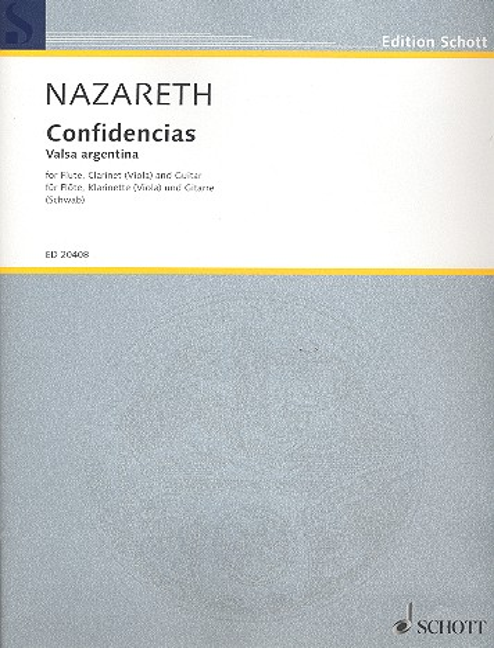 Confidencias: für Flöte, Klarinette (Viola) und Gitarre