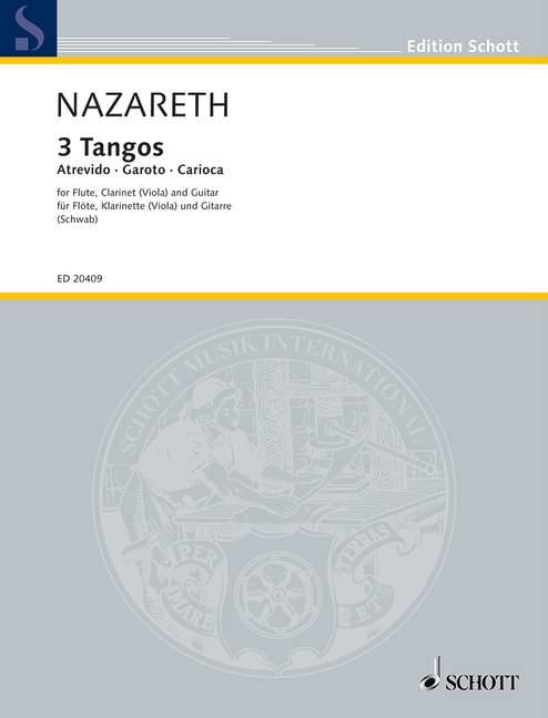 3 Tangos: für Flöte, Klarinette (Viola) und Gitarre