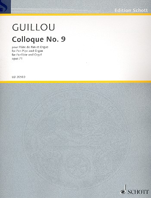 Colloque Nr.9 opus.71: für Panflöte und Orgel