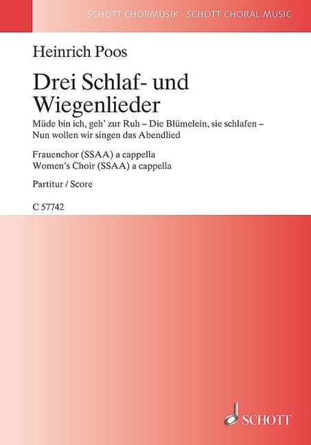 3 Schlaf- und Wiegenlieder: für Frauenchor a cappella