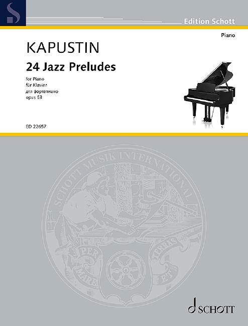 24 Jazz Preludes opus.53: für Klavier