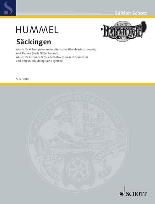 Säckingen opus.103f: für 6 Trompeten (Blechbläser) und Pauken (Nietenbecken)