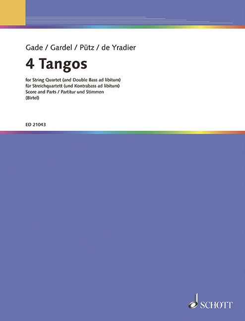4 Tangos: für Streichquartett (Kontrabass ad lib)