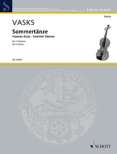 Sommertänze: für 2 Violinen