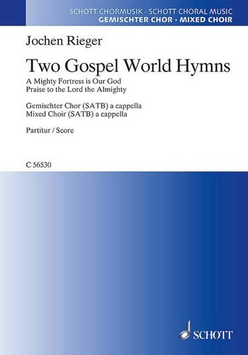 2 Gospel World Hymns: for mixed chorus and piano