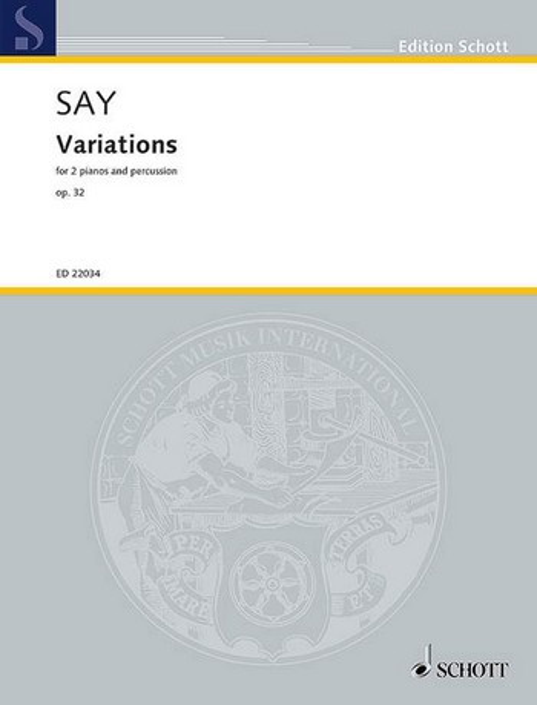 ED22034 Variations op.32: für 2 Klaviere und Schlagzeug