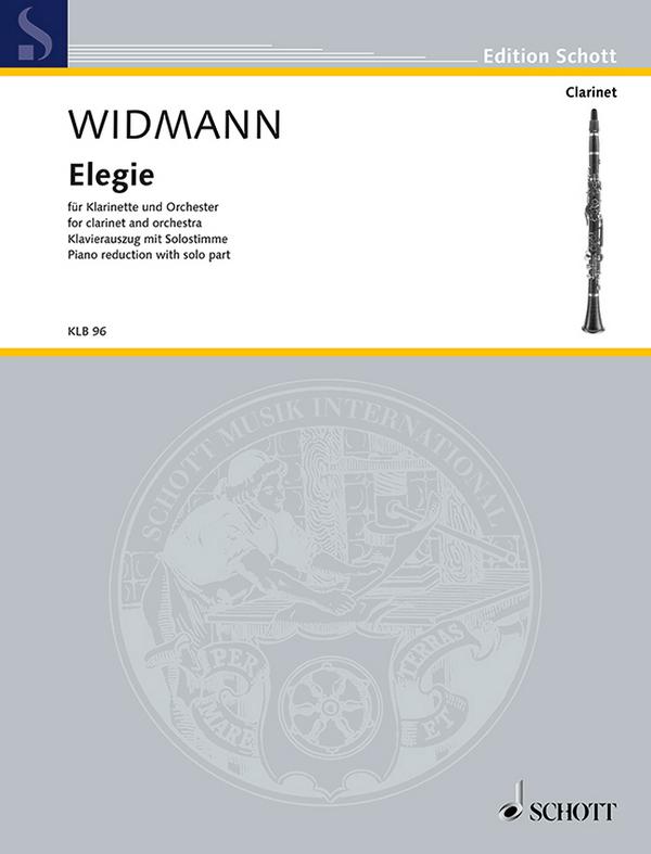 Elegie für Klarinette und Orchester: für Klarinette und Klavier